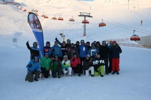 Die Gäste der KAS-Skifreizeit in Tumpen vom 13. bis 20. Januar 2018. Foto: KAS/Ball