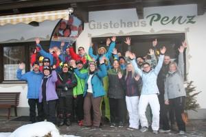 Die Gäste der KAS-Skifreizeit in Fügen vom 20. bis 27. Januar 2018. Foto: KAS/Thorsten Saust